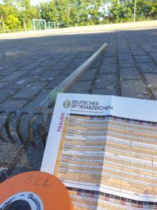 Sportabzeichen Abnahme am 4. Mai 2021 @ Sportplatz Mainz-Lerchenberg